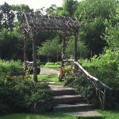 Rustic Arbor by Whitten Hill Studio