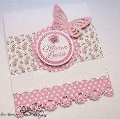 Convite artesanal Jardim Encantado floral rosa
