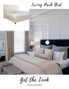 Irving Park Bed   Interior by Micamy Design.