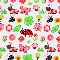 Cotton Little Beetle 4 - Kids Fabricsfavorable buying at our shop
