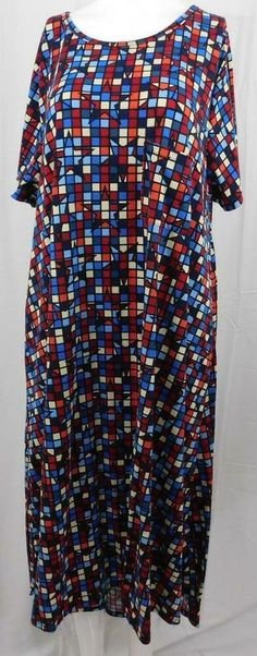 New LuLaRoe Gigi Shirt Large Disney Villains purple red teal blue geometric