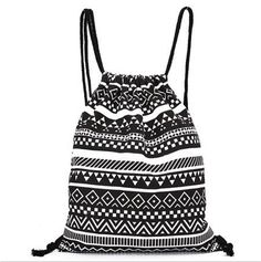 Unisex Retro Geometric Backpacks Printing Bags Drawstring Backpack mochilas feminina backpacks for teenage girls ladies