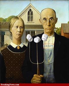 American Gothic with Marshmallows
