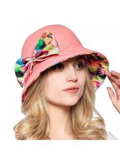 e25d2f08075 Fashion Women Summer Beach Hat Ladies Large Brim Anti-UV Hat Foldable  Sunhat - Pink - CG1218P59PN. Women s HatsSun HatsCaps ...