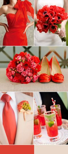 red and light pink wedding inspiration for 2016 spring