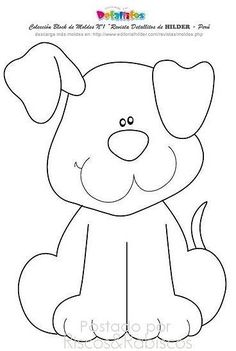Ideas Baby Animals Crafts For Kids Coloring Pages For 2019 Free Applique Patterns, Baby Applique, Baby Quilt Patterns, Applique Quilts, Embroidery Patterns, Felt Patterns, Quilt Baby, Dog Quilts, Animal Crafts For Kids