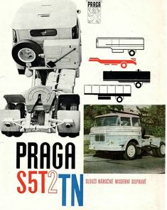 Vintage Comics, Vintage Ads, Eastern Europe, Big Trucks, Buses, Cars And Motorcycles, Retro, Prague, Bohemia