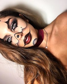 Halloween makeup, Clown Inspired. Velour Lashes in Fluffn' Whispie via @patriciariverap