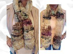 Winter Scarf Autumn Scarf #Bohemian #Scarf by NadiasKnits2 on Etsy  #winter #autumn #handmade #etsy #knitting