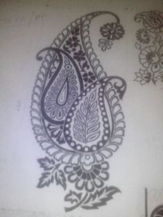 This Pin was discovered by Roh Blackwork Embroidery, Hand Work Embroidery, Embroidery Motifs, Embroidery Transfers, Indian Embroidery, Beaded Embroidery, Embroidery Designs, Patch Design, Motif Design