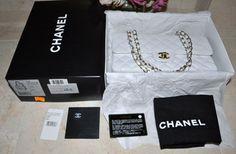 Chanel Classic Medium Caviar Double Flap Gold Chain Handbag Shoulder Bag $3,435