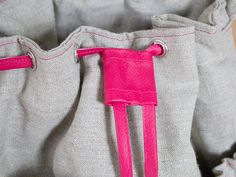 Einen Kordelstopper aus Kunstleder oder Baumwolle nähen / Nähanleitung