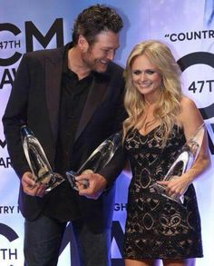 Miranda Lambert & Blake Shelton: Their 5 Cutest Moments at the CMAs Country Music Artists, Country Music Stars, Country Singers, Miranda Blake, Blake Shelton Miranda Lambert, The Way He Looks, Country Girls, Country Couples, Country Life