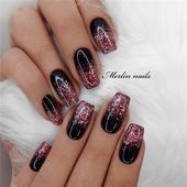 Black Maroon Nails Suitable for partydaily life officedisplaymodelhomeofficepart. - Black Maroon Nails Suitable for partydaily life officedisplaymodelhomeofficepartyclubcosplayegressappointment and so on. The post Black Maro - Gold Gel Nails, Gold Chrome Nails, Rose Gold Nail Polish, Maroon Nails, Black Nails, Coffin Nails, Glitter Manicure, Sparkly Nails, Blue Nail