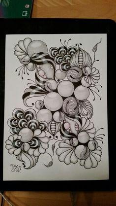 ZIA Zentangle Drawings, Doodles Zentangles, Doodle Drawings, Doodle Designs, Doodle Patterns, Zentangle Patterns, Tangle Doodle, Zen Doodle, Doodle Art