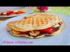 Waffle nasıl yapılır - Evde kolay ve pratik waffle hamuru tarifi -Tatlı tarifleri - Kibarin mutfagi - YouTube