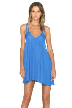 BLQ BASIQ Tank Dress in Denim Blue | REVOLVE