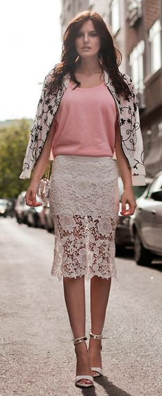 pencil skirt ~ pinterest.com/bwforever/