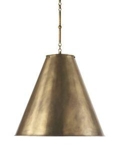 brass shade pendant