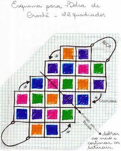 Best 12 beside crochet: حقائب كروشية مع البترون.Crocheted bags with Petron Free Crochet Bag, Crochet Market Bag, Crochet Clutch, Crochet Diy, Crochet Handbags, Crochet Purses, Sac Granny Square, Knitting Patterns, Crochet Patterns