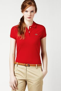 Red Lacoste Shirts