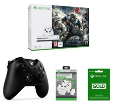 ION MICROSOFT  Xbox One S, Gears of War 4, Controller, Docking Station & 3 Months Xbox LIVE Gold Membership Bundle, Gold Price: £ 289.99 You'll have everything you need to play stunning games with the Microsoft Xbox One S, Gears of War 4, Controller, Docking Station & 3 Months Xbox LIVE Gold Membership Bundle. _____________________________________________________________ Microsoft Xbox One S...