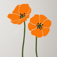 Tall Poppies Flower Stencil for wall decor by TheStencilStudio-fantastic stencils