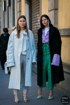 Giorgia Tordini and Gilda Ambrosio by STYLEDUMONDE Street Style Fashion Photography