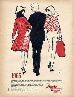 René Gruau - Illustration - Jimic Tergal - 1965