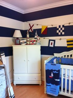 love the stripes for the babies room