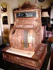 Antique cash register.