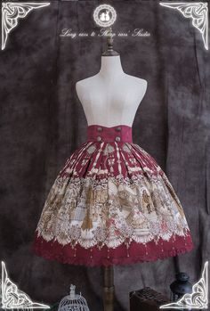 The Vampire Count's Dancing Party Lolita Skirt