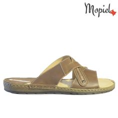 Papuci barbati din piele naturala 16001/Maro/Carol