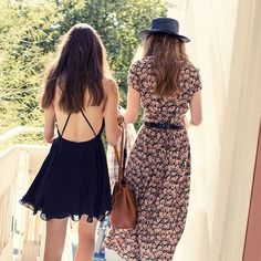"""@Urban Outfitters's photo: """"Best dressed besties. Shop it: urbout.co/UOOnYou #uoonyou #bettertogether #openback #floral #dresses #urbanoutfitters"""""""
