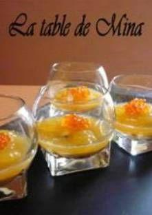 Recette de Huitres à la crème de crustacés et à la gelée d'ananas