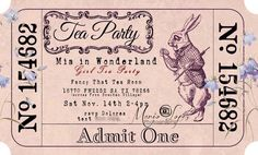 Vintage Alice party invitation from Wonderland Birthday Party at Kara's Party…