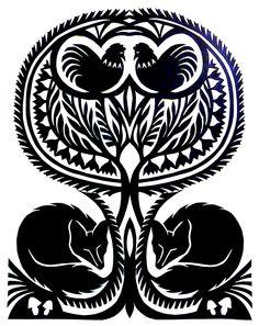 Sleeping Foxes_The Wait by Alisa Lahti Paper Cutting, Cut Paper, Polish Folk Art, Paper Cut Design, Floral Drawing, Arte Popular, Indigenous Art, Ancient Art, Patch