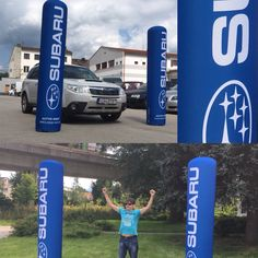 Inflatable column #subaruslovakia and @superstany