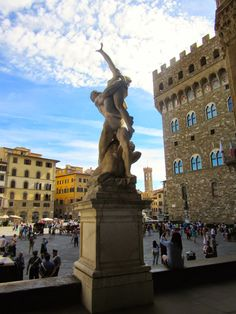 One of my favourite spots in Florence is Piazza della Signoria, a busy square dominated by the fortress-like Palazzo Vecchio . Inferno Dan Brown, Love And Gelato, Palazzo, Florence, Statue Of Liberty, Places, Travel, Women, Statue Of Liberty Facts