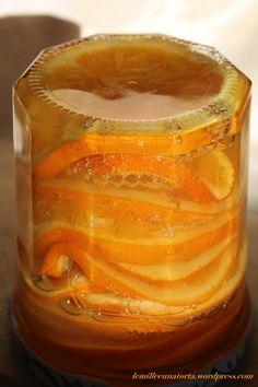 Fette di arance caramellate