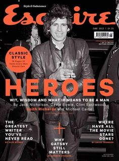 Keith Richards on the cover of Esquire Magazine (UK), June Esquire Uk, Fashion Magazine Cover, Magazine Covers, Magazine Rack, Ronnie Wood, Design Brochure, Editorial Layout, Editorial Design, Jack Nicholson
