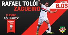 O segundo colocado na Bola de Prata de Melhor Zagueiro é Rafael Tolói! http://abr.ai/1u9zy3y