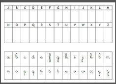 Associer les lettres cursives aux majuscules.