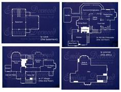 Halliwell Manor blueprint....possibly my dream house...possibly my future blueprints