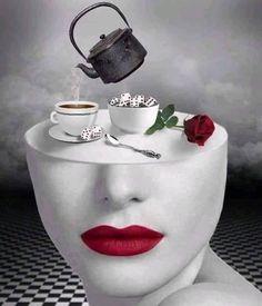 Coffee Music, Coffee Art, Coffee Love, Coffee Break, Surreal Artwork, Black Art Pictures, Beautiful Pictures, Good Morning Coffee, Fashion Wall Art