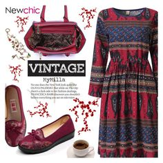 """""""Newchic style - Woman's fashion"""" by mymilla ❤ liked on Polyvore featuring vintage"""