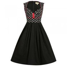 Lavonne Black Polka Dot Swing Dress | Vintage Style Dress - Lindy Bop