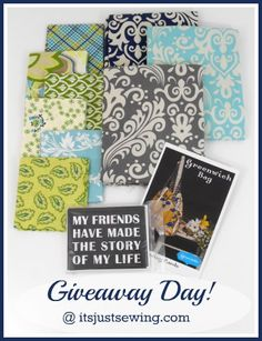blue and green giveaway pinterest image