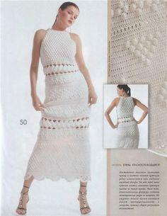 Vestidos elegantes tejidos en crochet