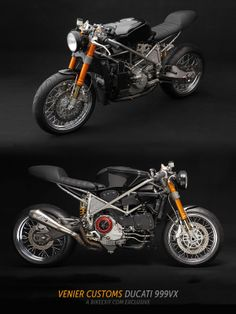 This Ducati 999S 'Testastretta' racebike has been converted to road use by Stefano Venier, a New York custom motorcycle builder with an eye for understated aesthetics.   Finished in a very dark gray, it's a real traffic-stopper—but it'll leave most other bikes for dead when the lights turn green.